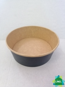 Контейнер паперовий для салату 1350мл. дно ЧОРНЕ КРАФТ (45/180) (011696)