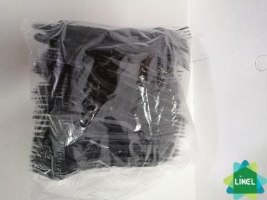 Виделка чорна 16 см. 100 шт. (25 уп/ящ)