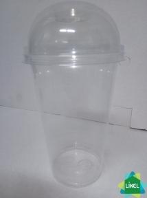 Крышка пластиковая для стакана Купол 300/500 мл. с отверстием  (100 шт.)