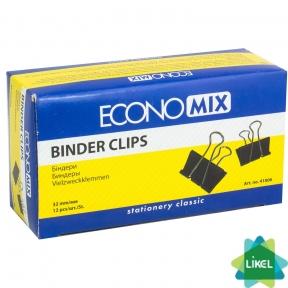 Биндеры для бумаги Economix 32  мм (12 шт. пач.)