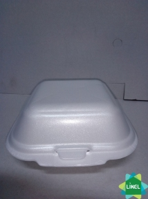 Ланч-бокс белый маленький  150х152х60 мм (250 шт.) НР-6