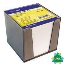Бумага для заметок Economix белая 85х85мм 800л, в пластиковом пенале