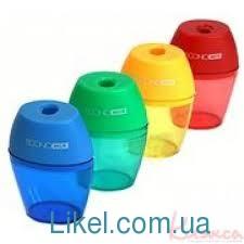 Чинка пластиковая с контейнером, Economix