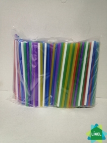 Трубочки Мартинки (4,8 мм) прямі асорті 12,5 см (200 шт.) ( 100уп.\ящ)
