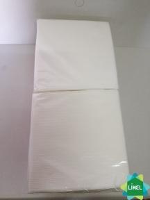 Салфетка 33х33 2-х слойная  белая (Каштан) (200 шт.) (14 пач/ящ)