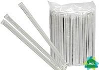 Трубочки Гофра в индивидуальной  упаковке (4,8 ии) полосатые 21 ми (200 шт)