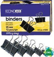 Биндеры для бумаги Economix 25 мм (12 шт. пач.)
