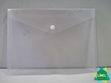Папка-конверт В5 прозрачная на кнопке ECONOMIX , 180 мкм, фактура