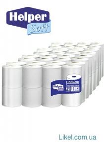 Туалетная бумага Helper Soft Standart 2-х сл. 4 шт/пач ( 16 пач/пак)