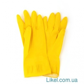 Перчатки резиновые, размер 7 (M)
