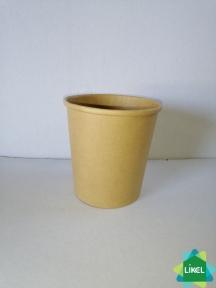 Контейнер бумажный КРАФТ для супа 500 мл (25/400)