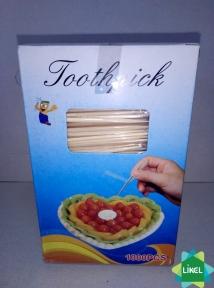 Зубочистки 1000 шт. индивидуальной целлофановой упаковке