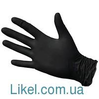 Перчатки  одноразовые нитрил чорные M 100 шт. без пудри (ПДВ-7%) КРЕПКИЕ EXSTRA SAFE  Поликс Групп