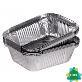 Контейнер из пищевой алюминиевой фольги R24L 144x119мм 430мл 100 шт