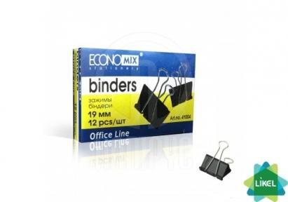 Биндеры для бумаги Economix 19мм (12шт/уп)