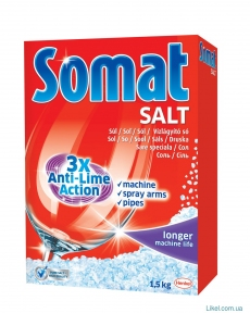 Somat соль для посудомойных машин 1500 г.