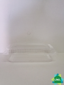 Ланч-бокс прозорий ПС-121 (39-1)(230*130*65-1300мл)  500шт/ящ