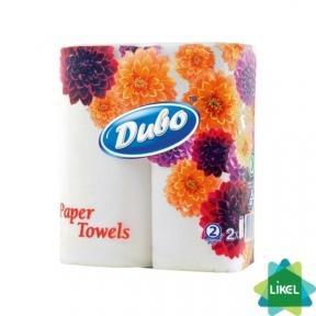 Полотенца бумажные ДИВО двухслойные белые 2рул/уп