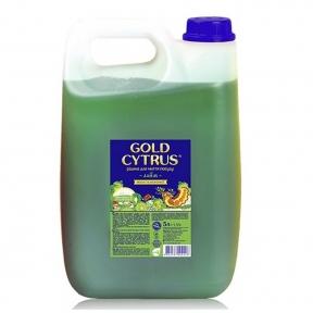 Средство для мытья посуды GOLD CYTRUS 5 л зеленый