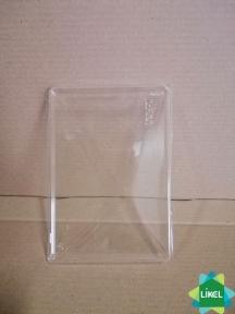 Кришка прозора 165*120*45 мм. для конт. для їжі з чорним та білим  дном 500 мл КРАФТ