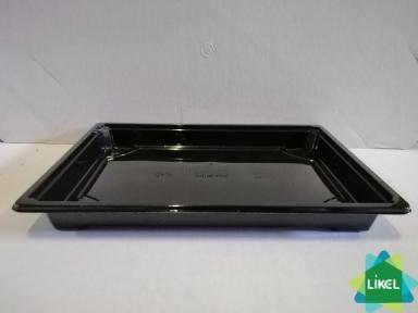 Контейнер для суши та роллів чорний дно (356 шт\уп)