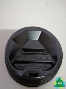 Крышка пластиковая  № 90  черная (50 шт/пак) Ромб