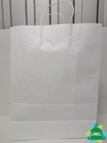 Пакет паперовий білий 320х160х420 з ручками