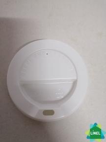 Крышка пластиковая для гофростакана 350мл  белая №90 50шт