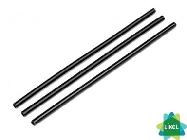 Трубочки Фреш (d=6,8мм) прямые черные 21 см 500 шт